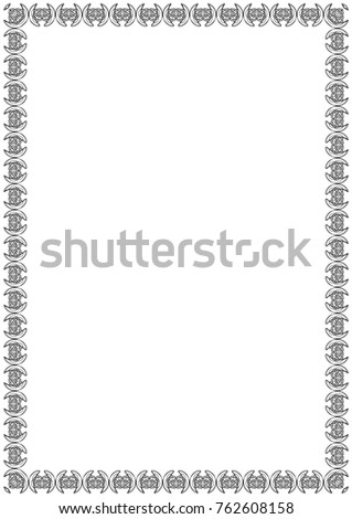Decorative Border Frame Size A 4 Abstract Stock Illustration ...