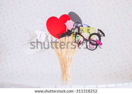 Decorative cartoon masks - stock photo