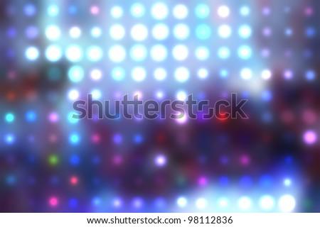 Decorative christmas background - defocused reflection of lights. - stock photo