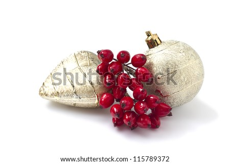 Decorative christmas composition  isolated on white background