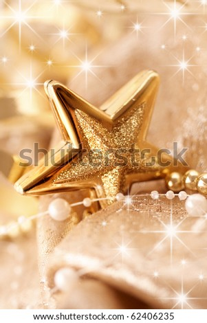 decorative christmas ornament - stock photo