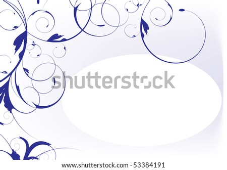 decorative design with flowers and place for text illustration