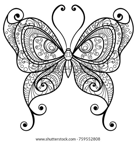 coloring pages detailed butterfly - photo#39