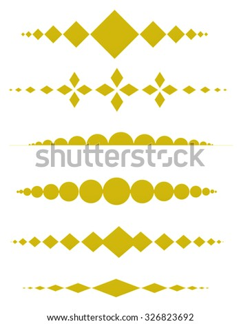 Decorative dividers can be use to decorate wedding , anniversary, valentines day, mother's day party invitation / cards. - stock photo