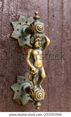 Decorative door knob  - stock photo