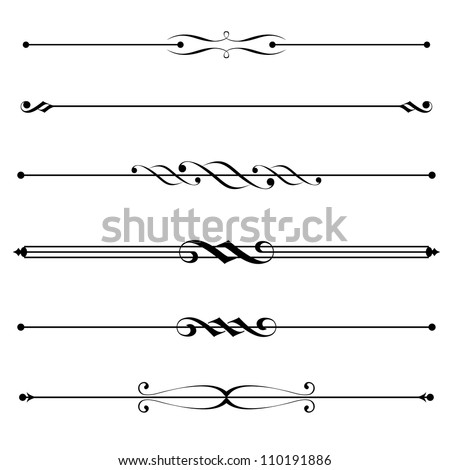 decorative elements, border and page rules - stock photo