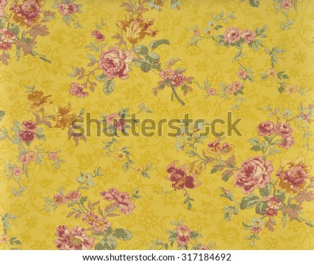 decorative fabric wallpaper - stock photo