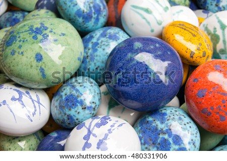 Decorative floating ceramic stones for garden pond; Garden decoration; Ornamental ceramic stones