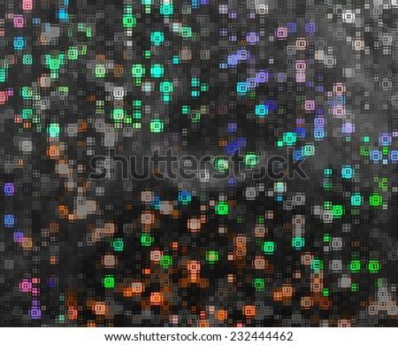 Decorative glass and bright bokeh - stock photo