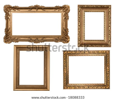 Decorative Gold Empty Wall Picture Frames Insert Your Own Design