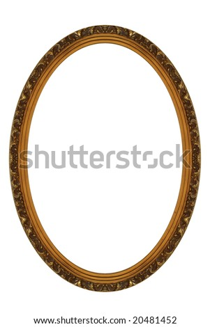 Decorative Gold Oval Frame - stock photo