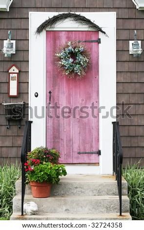 decorative home entrance - stock photo