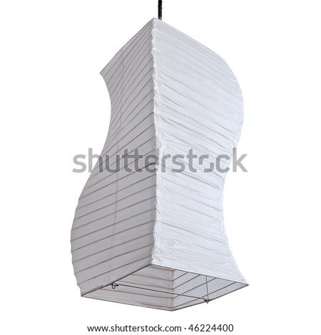 decorative lamp isolated on white background. clipping path included - stock photo