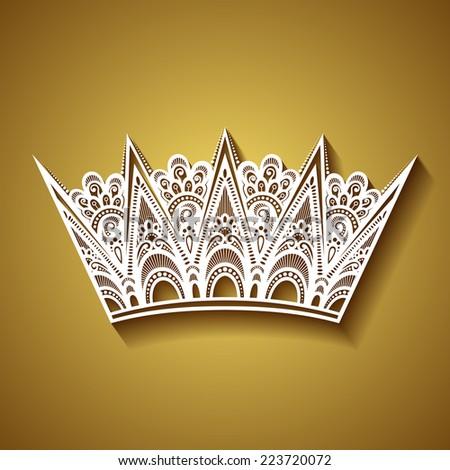 Decorative Ornate Crown - stock photo