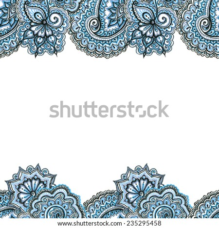 Decorative Ornate Repeated Border Frame Indian Stock Illustration ...