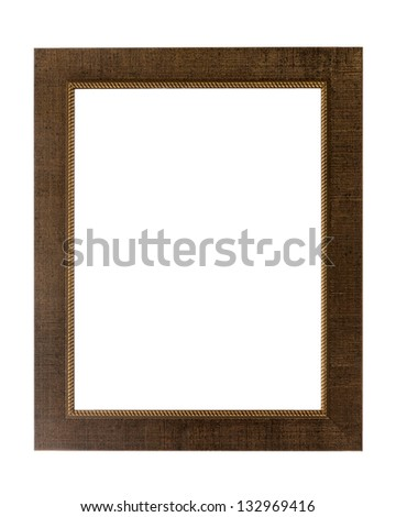 Decorative photo frame isolated on white background - stock photo
