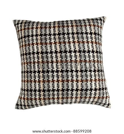 decorative pillow isolated on white - stock photo