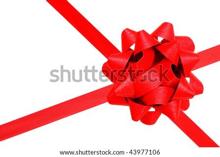decorative red ribbon