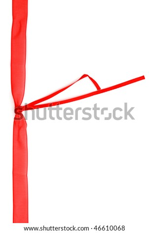 decorative red silk symbol