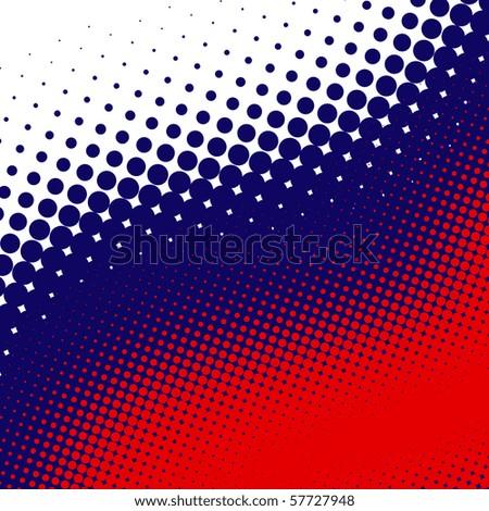Decorative retro US colors halftone background - stock photo