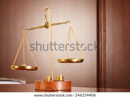 Decorative Scales of Justice , law and justice concept. - stock photo