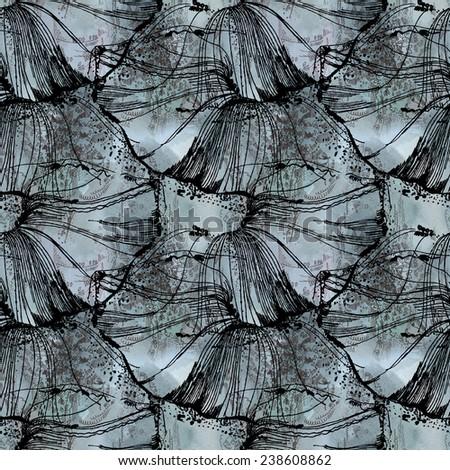 Decorative seamless pattern - stock photo