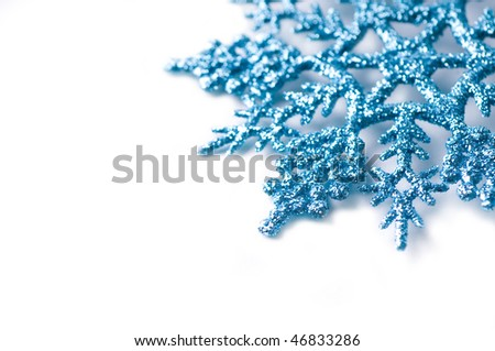 decorative snowflake isolated - stock photo