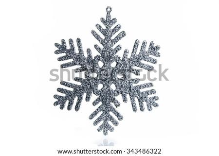Decorative snowflake on a white background - stock photo