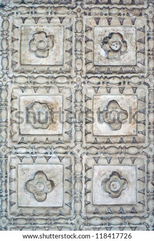Decorative Stone Floral Pattern - stock photo