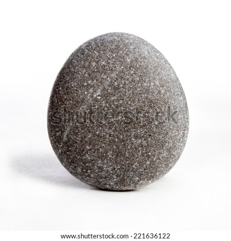 Decorative stones on the white background
