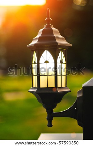 Decorative street lamp - stock photo
