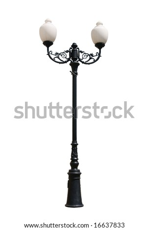 Decorative Street latern isolated on white background