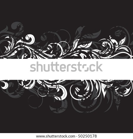 Decorative template grunge background, illustration - stock photo