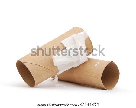 Decorative toilet papers - stock photo