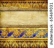decorative vintage background in thai style with place for text - stock photo