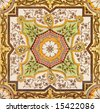Decorative wall tile from the late Victorian period c1880 - Aesthetic style - stock photo
