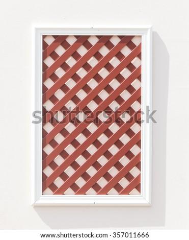 decorative window - stock photo