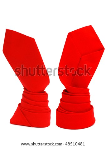 decorative wrapping red tie - stock photo