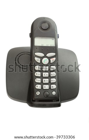DECT phone on a white background isolated