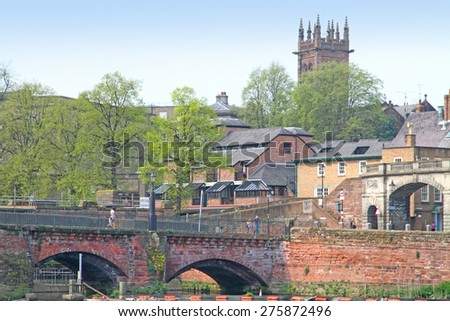 Dee river Chester UK - stock photo