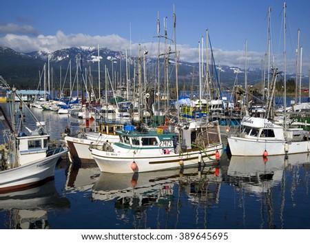 Deep bay vancouver island may 8 stock photo 389645695 for Deep sea fishing bay area