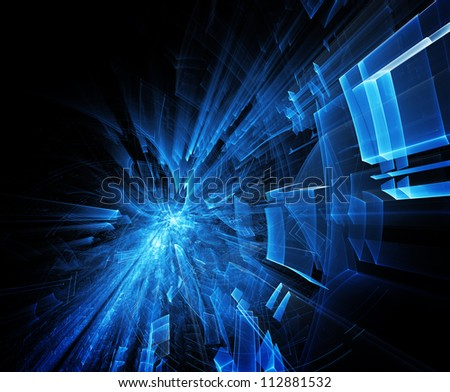 Deep blue abstract background - stock photo