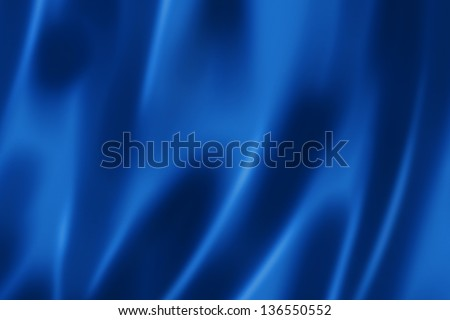 Deep blue satin, silk, texture background - stock photo