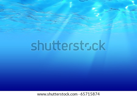 Deep Blue Sea - stock photo