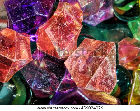 Deep-colored marble-like stones  - stock photo
