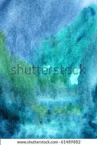 Deep dark blue background. Water color painting wallpaper - stock photo
