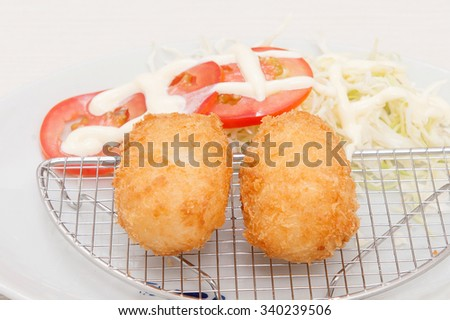 Deep fried cheese balls  - stock photo