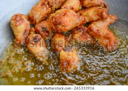 deep fried chicken  - stock photo