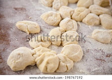 Deep-fried dough stick. - stock photo