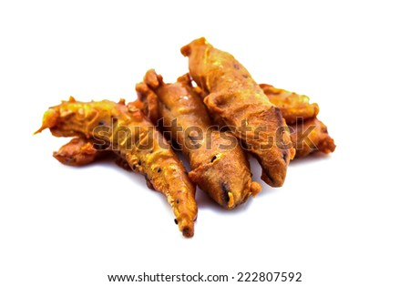 deep-fried sliced banana isolate on white background